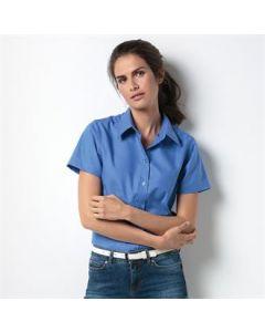 Women's workplace Oxford blouse short