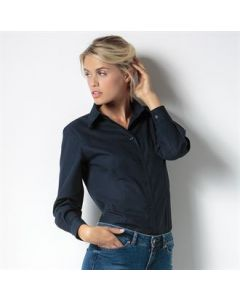 Women's workplace Oxford blouse long